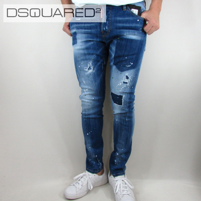 ディースクエアード DSQUARED2 デニム ジーンズ メンズ デニムパンツ S74LB0322 / 470 / ブルー サイズ:44~52