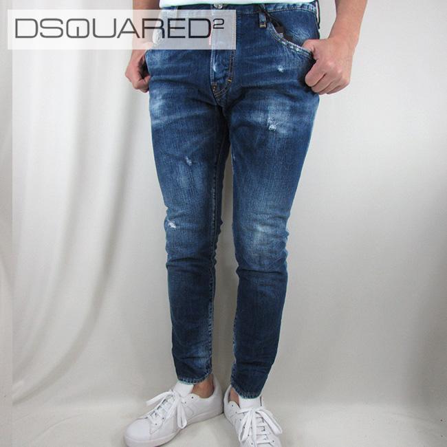 ディースクエアード DSQUARED2 デニム ジーンズ メンズ ジーパン ボトムス ボタンフライ S71LB0469 / 470 / ブルー サイズ:44~52