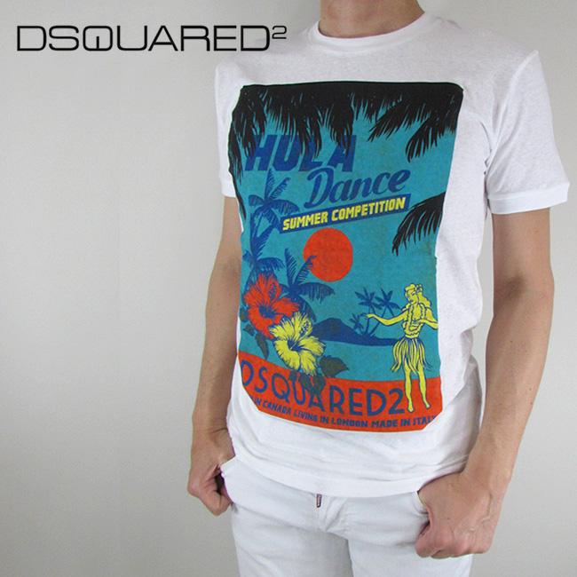 ディースクエアード DSQUARED2 Tシャツ 半袖 メンズ カットソー S71GD0642 / 100 / ホワイト サイズ:S/M