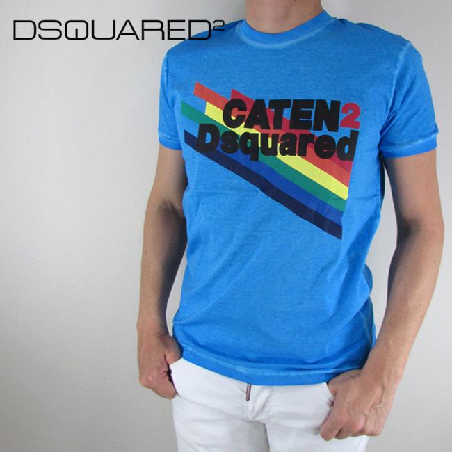 ディースクエアード DSQUARED2 Tシャツ 半袖 メンズ カットソー S71GD0630 / 483 / ブルー 青 サイズ:S/M/L