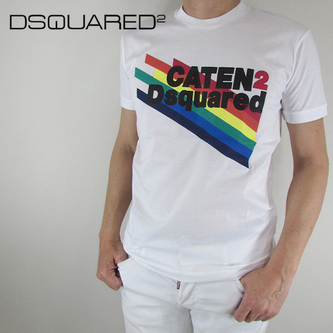 ディースクエアード DSQUARED2 Tシャツ 半袖 メンズ カットソー S71GD0630 / 100 / ホワイト サイズ:S~XL
