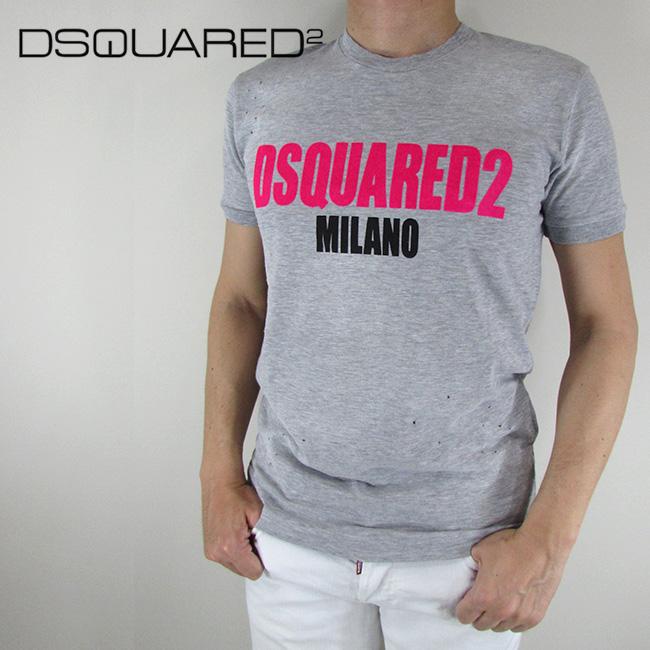ディースクエアード DSQUARED2 Tシャツ 半袖 メンズ カットソー S74GD0432 / 857M / グレー サイズ:S/M/L