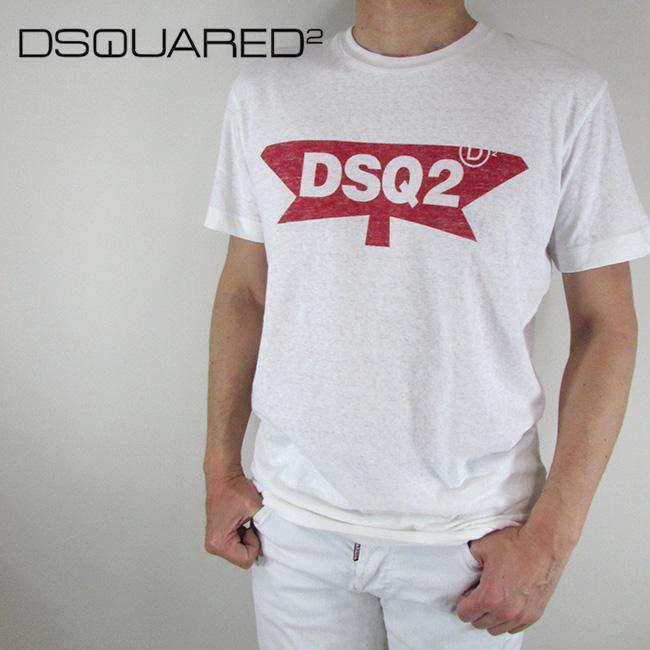 ディースクエアード DSQUARED2 Tシャツ 半袖 メンズ カットソー S71GD0596 / 100 / ホワイト サイズ:M