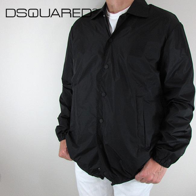 ディースクエアード DSQUARED2 メンズ ジャケット コーチジャケット S74BN0850 / 900 / ブラック 黒 サイズ:44/46/48