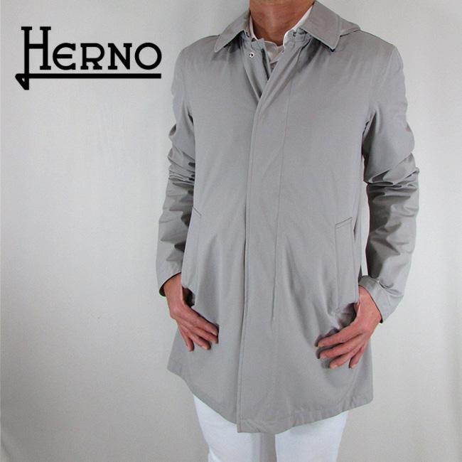 ヘルノ HERNO メンズ コート ステンカラーコート アウター IM0174U 19348 / 9404 / ライトグレー サイズ:46~52