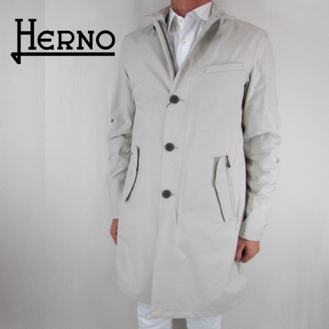 ヘルノ HERNO メンズ コート ステンカラーコート アウター IM024UL 11101 / 1300 / ベージュ サイズ:46/48/50