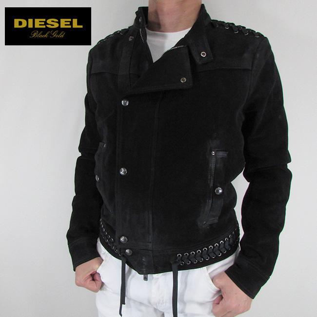 ディーゼル ブラックゴールド DIESEL BLACK GOLD ジャケット メンズ レザージャケット 本革 レザー LYFE-WHIP / 900 / ブラック サイズ:48