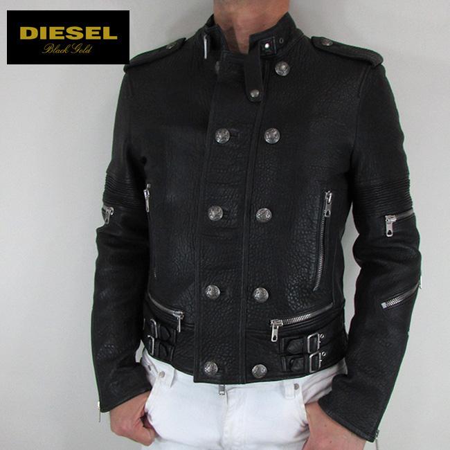 ディーゼル ブラックゴールド DIESEL BLACK GOLD ジャケット メンズ レザージャケット 本革 レザー LICOPLY / 900 / ブラック サイズ:48