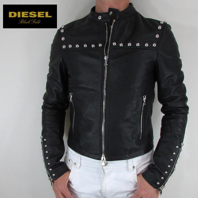 ディーゼル ブラックゴールド DIESEL BLACK GOLD ジャケット メンズ レザージャケット 本革 レザー LIBERTY / 900 / ブラック サイズ:48