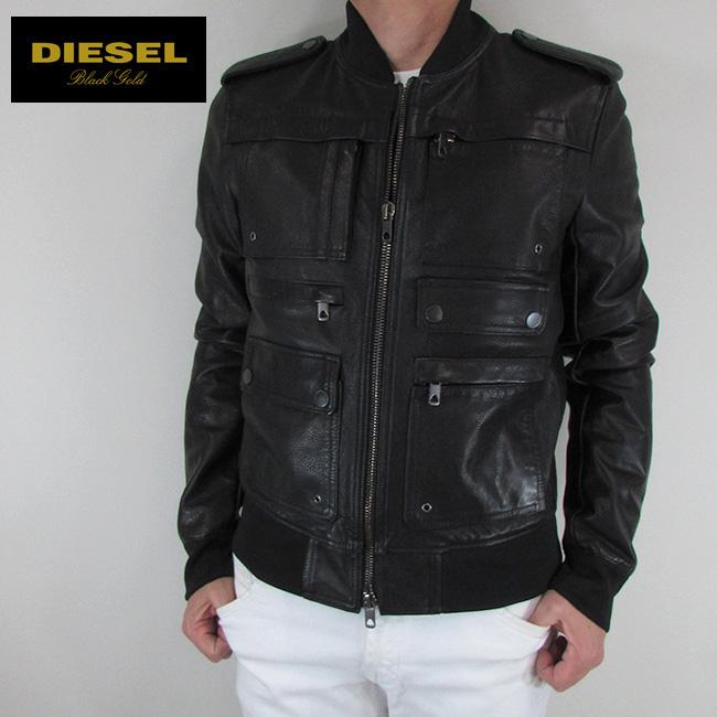 ディーゼル ブラックゴールド DIESEL BLACK GOLD ジャケット メンズ レザージャケット 本革 レザー LAVILLO / 900 / ブラック サイズ:48