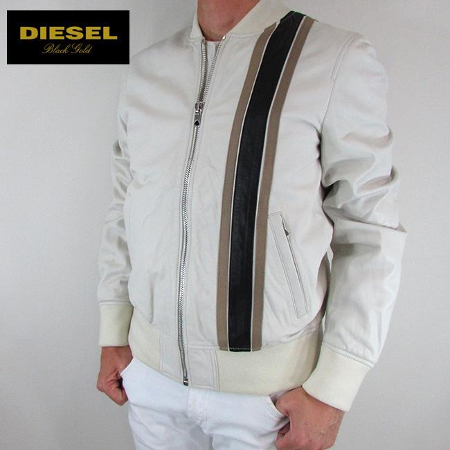 ディーゼル ブラックゴールド DIESEL BLACK GOLD ジャケット メンズ レザージャケット 本革 レザー LAROBBY / 100 / オフホワイト サイズ:48