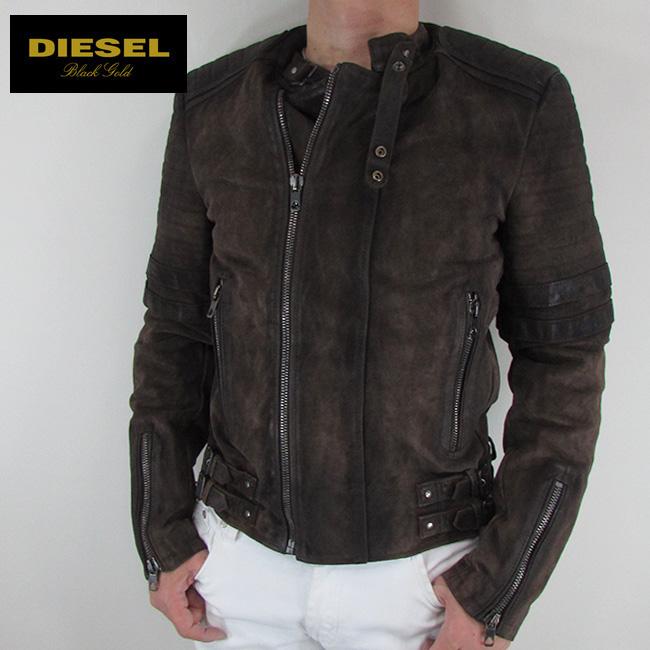 ディーゼル ブラックゴールド DIESEL BLACK GOLD ジャケット メンズ レザージャケット 本革 レザー LAXONY / 74P / ブラウン サイズ:48