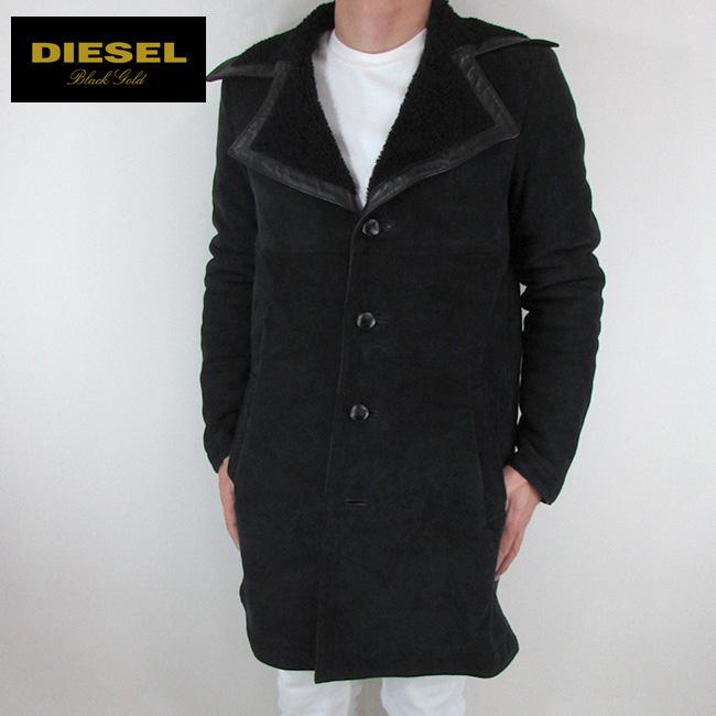 ディーゼル ブラックゴールド DIESEL BLACK GOLD ジャケット コート メンズ レザージャケット 本革 レザー LYVING / 900 / ブラック サイズ:48