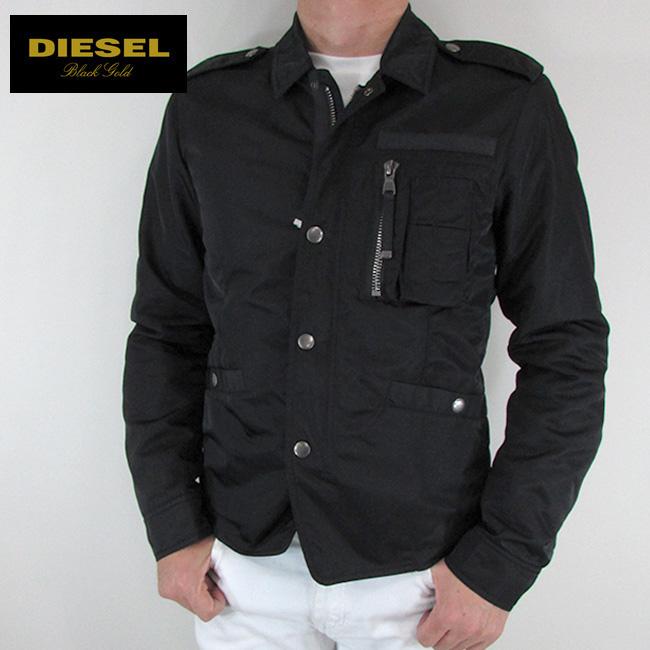 ディーゼル ブラックゴールド DIESEL BLACK GOLD ジャケット メンズ アウター ブルゾン R-IZUMO / 89R / ブラック サイズ:46
