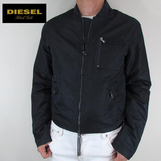 ディーゼル ブラックゴールド DIESEL BLACK GOLD ジャケット メンズ アウター ブルゾン JOHNAS / 87B / ネイビー 紺 サイズ:48