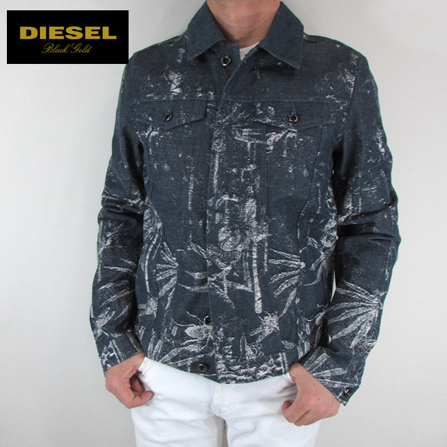 ディーゼル ブラックゴールド DIESEL BLACK GOLD ジャケット メンズ アウター ブルゾン JARED / 86S / ブルー サイズ:48