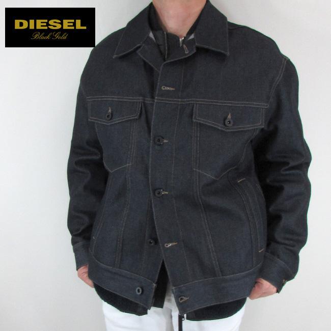 ディーゼル ブラックゴールド DIESEL BLACK GOLD ジャケット メンズ アウター ブルゾン JACOD / 01 / インディゴ サイズ:48