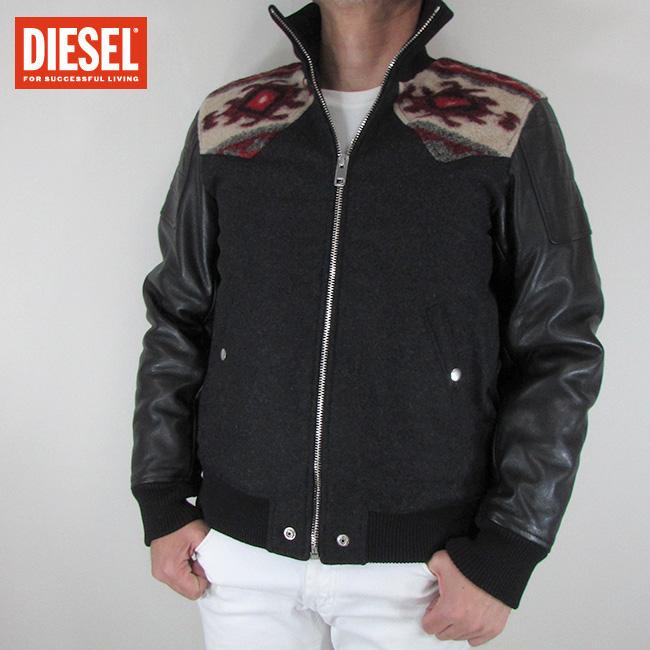 ディーゼル DIESEL ジャケット メンズ レザージャケット 本革 レザー L-PADH / 900 / ブラック 黒 サイズ:S~XL