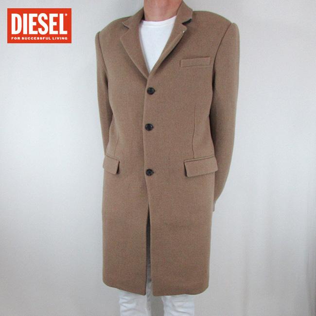 ディーゼル DIESEL メンズ コート ジャケット ミドルコート アウター W-KAROLL / 78H / ブラウン サイズ:50