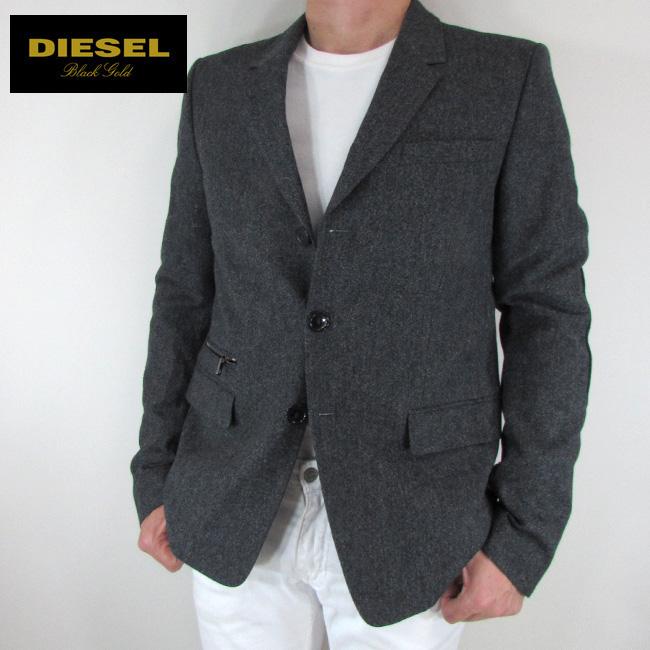 ディーゼル ブラックゴールド DIESEL BLACK GOLD テーラードジャケット メンズ ジャケット アウター LAMENNY / 900 / ブラック サイズ:48