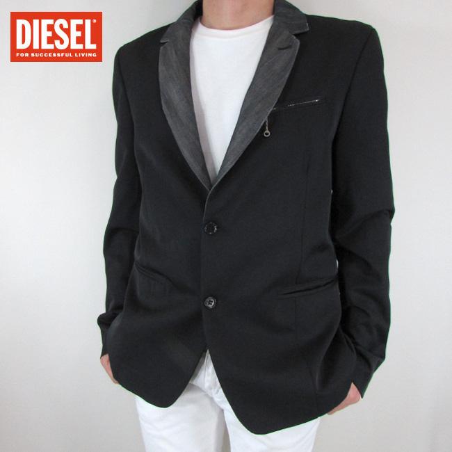 ディーゼル DIESEL テーラードジャケット メンズ ジャケット アウター JIMENEO / 900 / ブラック サイズ:XL