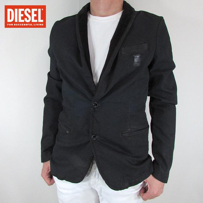 ディーゼル DIESEL テーラードジャケット メンズ ジャケット アウター SASUMATA-D / 01 / ブラック サイズ:L