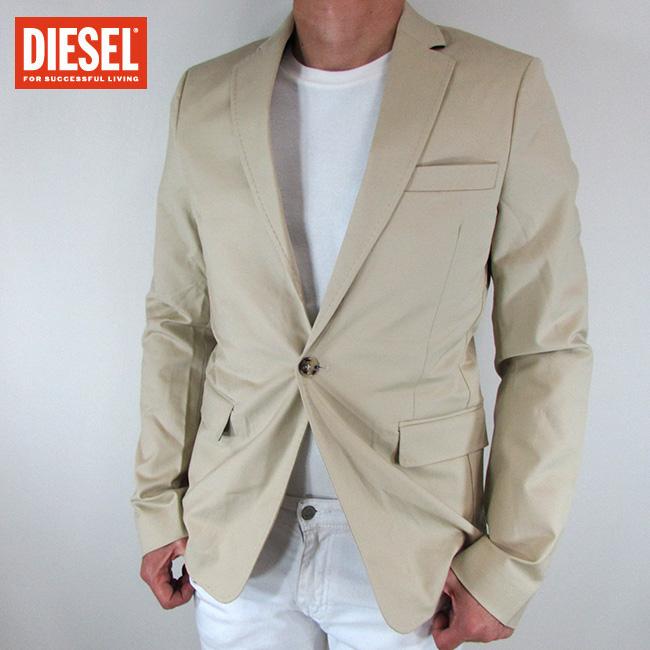ディーゼル DIESEL テーラードジャケット メンズ ジャケット アウター J-AUTIE / 100 / ベージュ サイズ:50