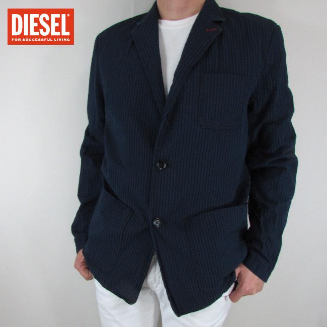 ディーゼル DIESEL テーラードジャケット メンズ ジャケット アウター D-CLIFF-E / 02 / ネイビー サイズ:50