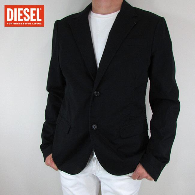 ディーゼル DIESEL テーラードジャケット メンズ ジャケット アウター J-AUTIE / 900 / ブラック サイズ:50