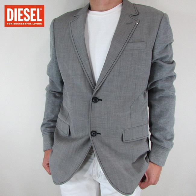 ディーゼル DIESEL テーラードジャケット メンズ ジャケット アウター J-DONK / 96X / グレー サイズ:50