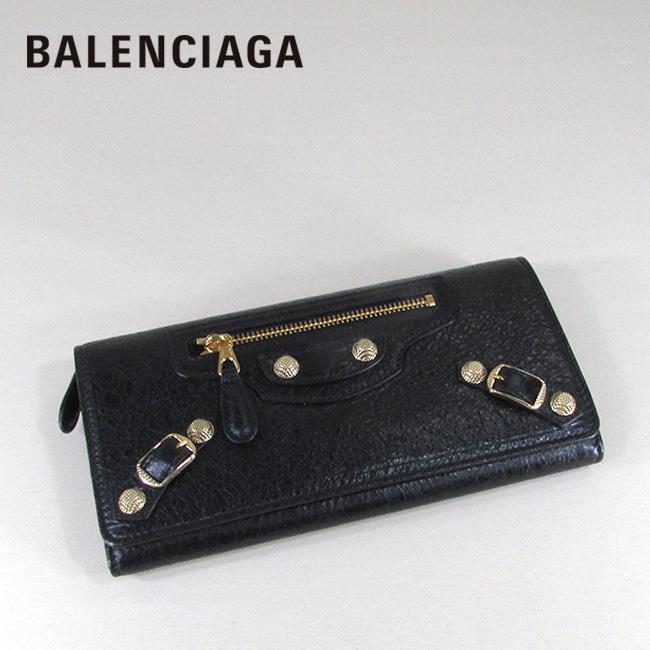 バレンシアガ BALENCIAGA 財布 二つ折り 長財布 小銭入れ付き 小物 ギフト 233599 D940G / 1000 / ブラック