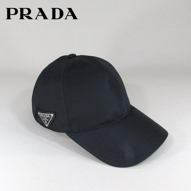 プラダ PRADA キャップ 帽子 ロゴプレート スポーツキャップ 1HC274 2B15 / F0002 / NERO サイズ:S/M