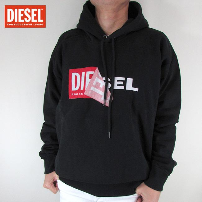 ディーゼル DIESEL メンズ プルオーバー スウェット トレーナー S-ALBY FELPA / 900 / ブラック サイズ:L~XL