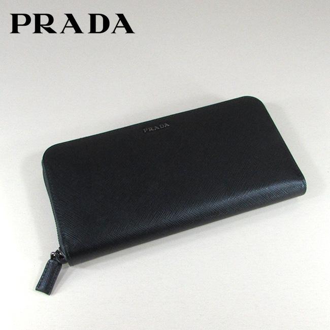 プラダ PRADA 長財布 ラウンドファスナー 財布 サフィアーノ 2ML317 C5S / FOG52 / NERO+BALTICO