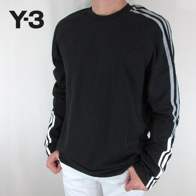 Y-3 ワイスリー YOHJI YAMAMOTO メンズ Tシャツ 長袖 カットソー トップス 丸首 ストリート 黒 DP0492 / BLACK / ブラック サイズ:S/M/L