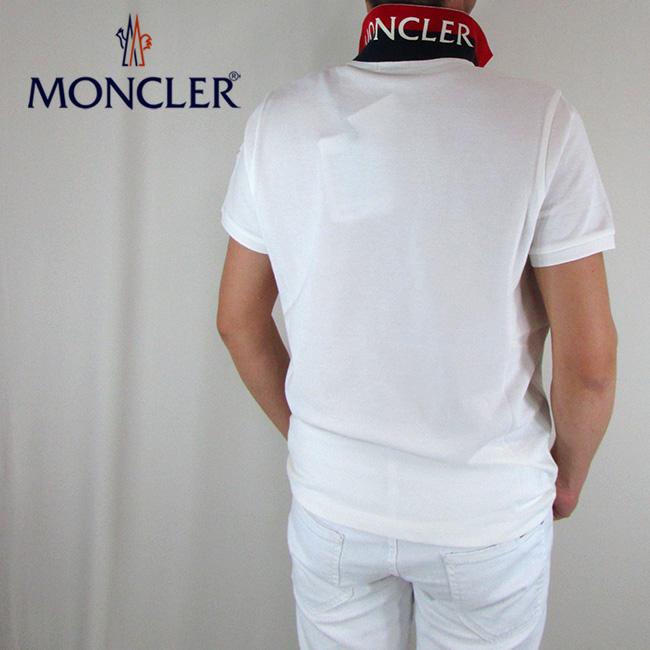 モンクレール MONCLER メンズ ポロシャツ 半袖 トップス 8305150 84556 / 004 / ホワイト サイズ:S/M