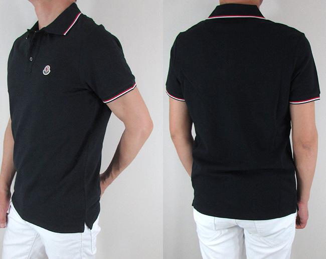 モンクレール MONCLER メンズ ポロシャツ 半袖 トップス 8345600 84556 / 773 / ネイビー サイズ:XS~XXL
