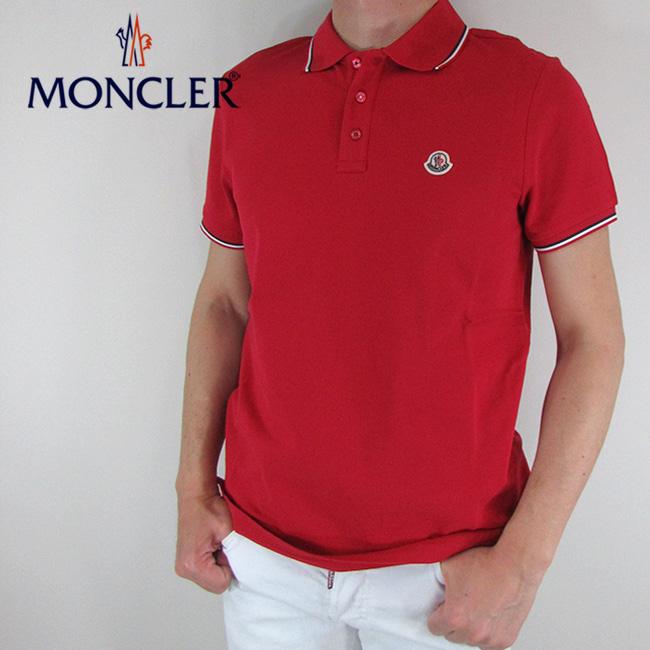 モンクレール MONCLER メンズ ポロシャツ 半袖 トップス 8345600 84556 / 456 / レッド サイズ:XS~M