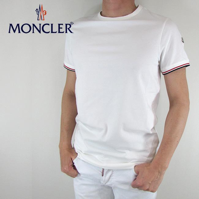 モンクレール MONCLER メンズ Tシャツ 半袖 カットソー 8019900 87296 / 004 / オフホワイト サイズ:M/L