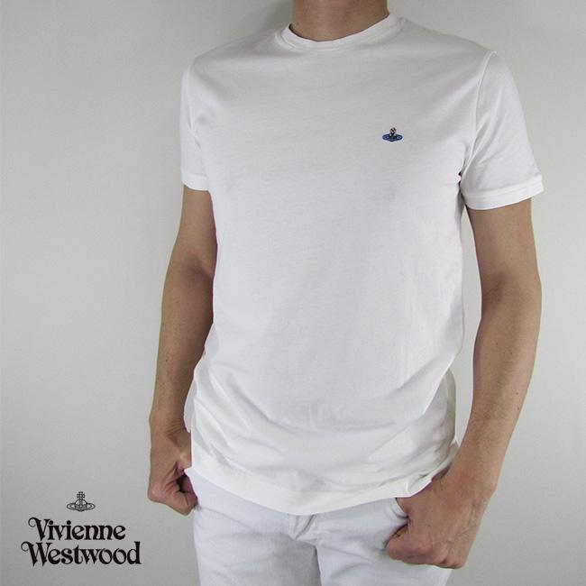ヴィヴィアンウエストウッド vivienne westwood メンズ Tシャツ 半袖 S25GC0377 / 101 / オフホワイト サイズ:XS~L