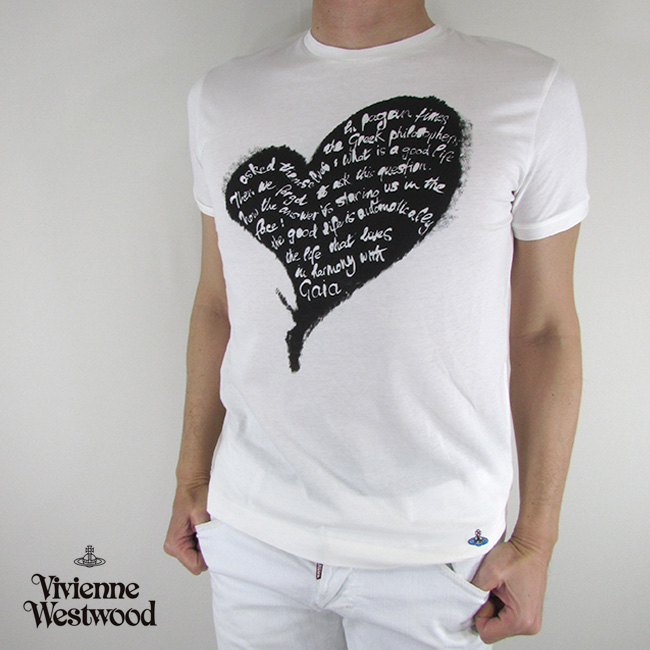 ヴィヴィアンウエストウッド vivienne westwood メンズ Tシャツ 半袖 S25GC0384 / 101 / ホワイト サイズ:XS~XXL