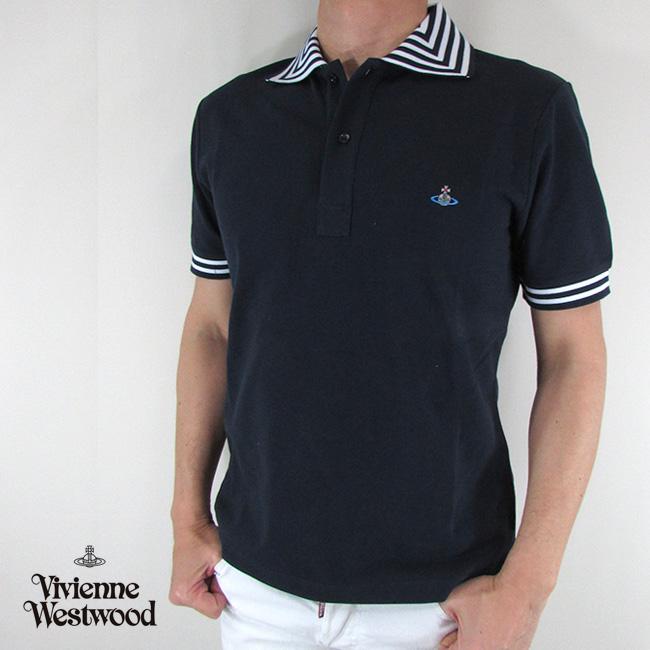 ヴィヴィアンウエストウッド vivienne westwood ポロシャツ メンズ トップス S25GL0018 / 524 / ネイビー サイズ:S/M/L
