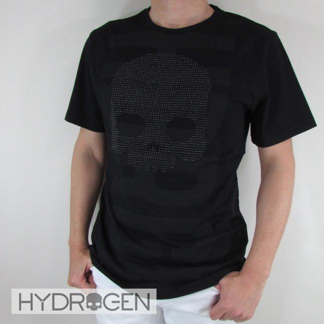 ハイドロゲン HYDROGEN メンズ Tシャツ 半袖 カットソー クルーネック 丸首 240626 / 007 / ブラック サイズ:S~2XL