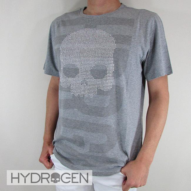 ハイドロゲン HYDROGEN メンズ Tシャツ 半袖 カットソー クルーネック 丸首 240626 / 015 / グレー サイズ:S~2XL