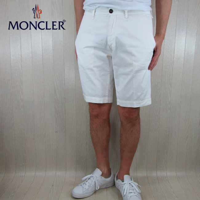 モンクレール MONCLER ハーフパンツ ショートパンツ メンズ 1305240 57158 / 34 / ホワイト 白 サイズ:46~52