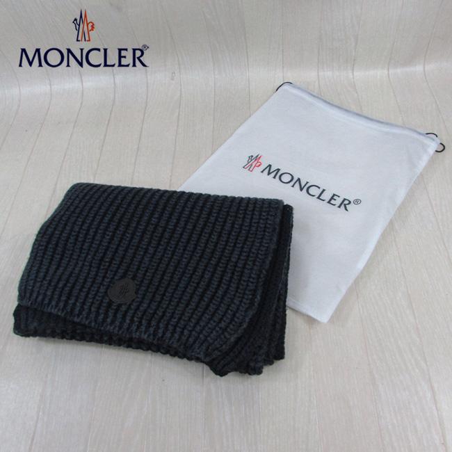 モンクレール MONCLER マフラー ウールマフラー 男女兼用 ユニセックス 0008200 04630 / 747 / ネイビー 紺
