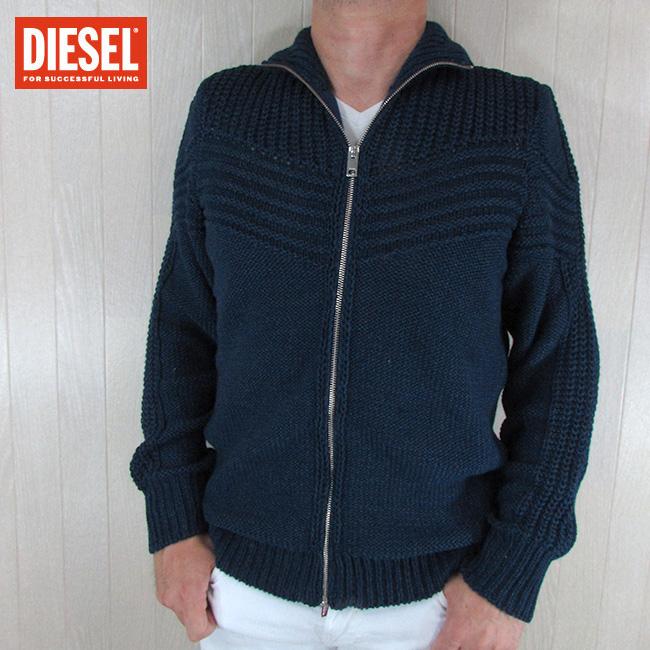 ディーゼル DIESEL メンズ ジップ ニット セーター K-CHUTE / 8AT / ネイビー 紺 サイズ:S~XXL