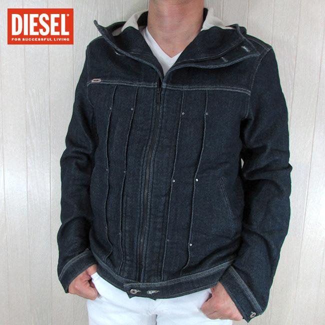 ディーゼル DIESEL メンズ ブルゾン ジャケット デニムジャケット JUZIHOOD-NE 0800D / 01 / インディゴ サイズ:L