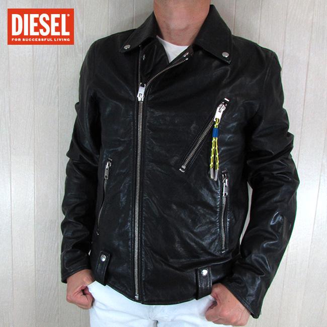 ディーゼル DIESEL ジャケット メンズ レザージャケット 本革 レザー L-WILLCOX / 900 / ブラック 黒 サイズ:L