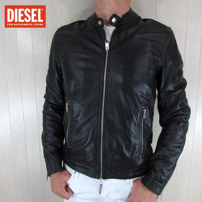 ディーゼル DIESEL ジャケット メンズ レザージャケット 本革 レザー L-FRANKLIN / 900 / ブラック 黒 サイズ:M/L
